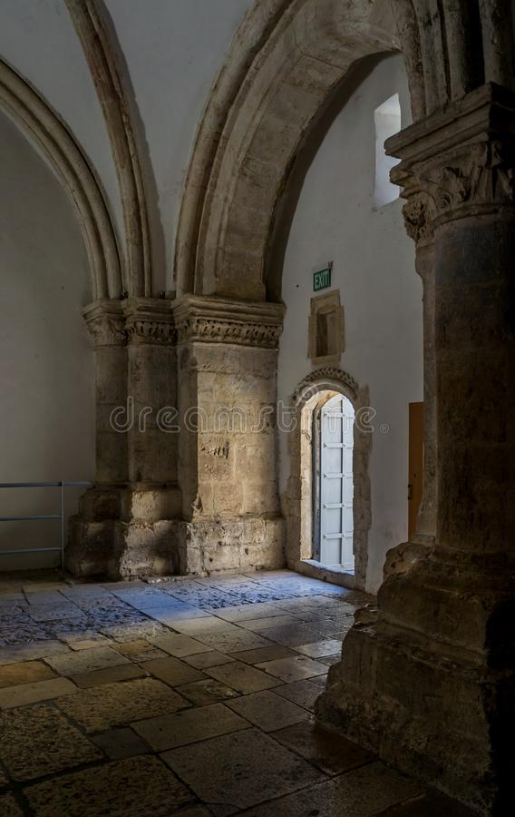 Cenacle, Upper Room, Last Supper Room in Jerusalem, Israel stock photography