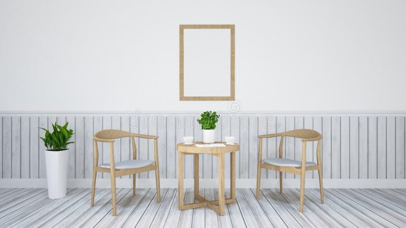 Cenando el sistema para el restaurante - ejemplo 3D ilustración del vector