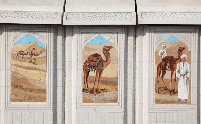 Cenas beduínas da vida em Doha fotos de stock