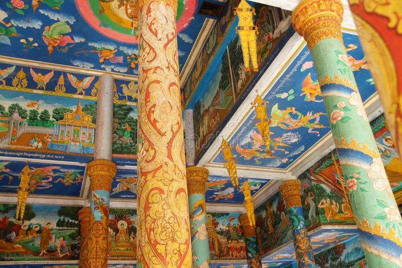 Cenas da Buda em Wat Nokor fotos de stock