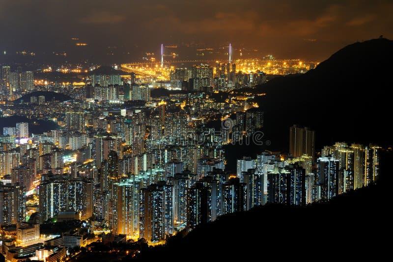 Cenas da noite de Kowloon imagem de stock royalty free