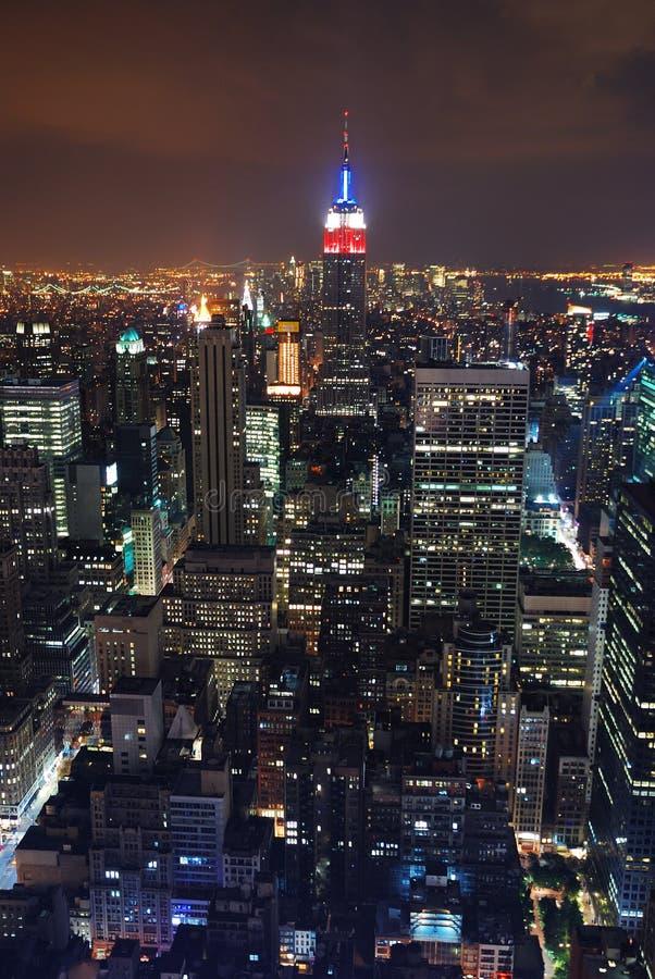 Cenas da noite de New York City imagem de stock royalty free