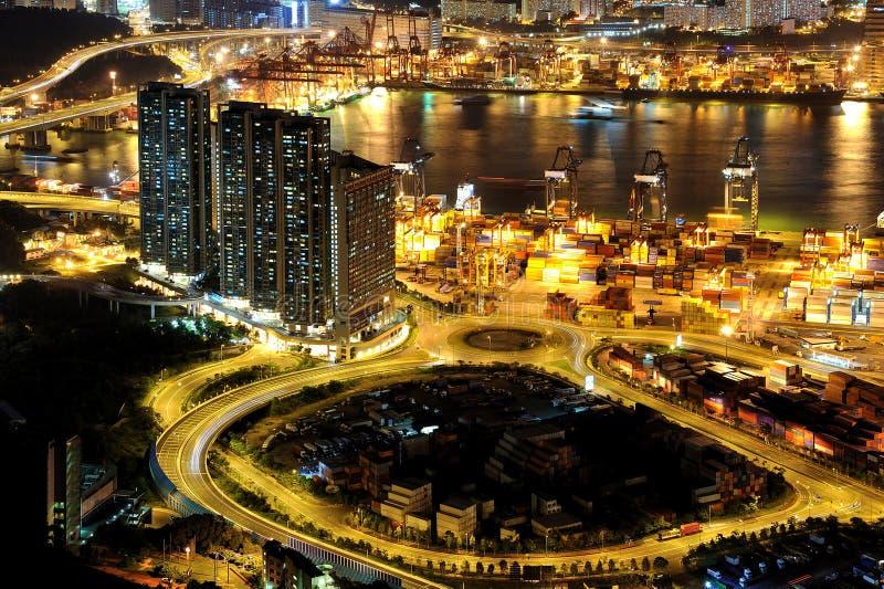 Cenas da noite de Tsing Yi fotos de stock