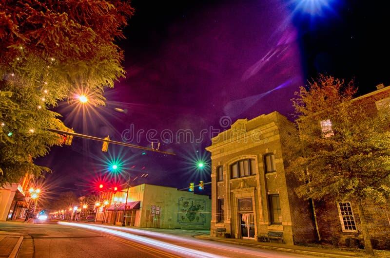 Cenas da noite em torno da cidade South Carolina da rosa do branco de york do olde imagens de stock