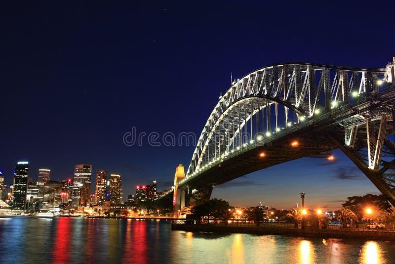 Cenas da ponte da noite imagens de stock royalty free