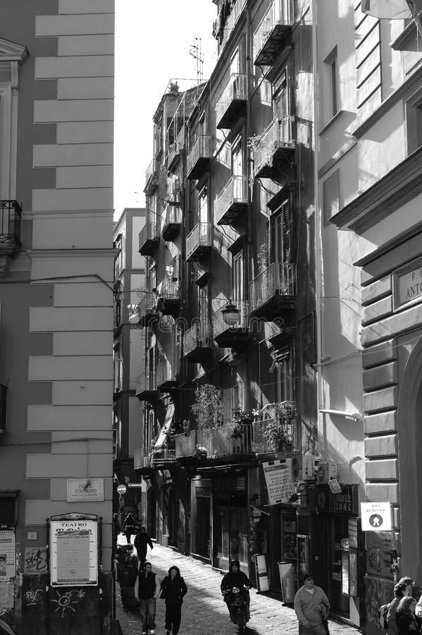Cenas da rua de Nápoles fotografia de stock
