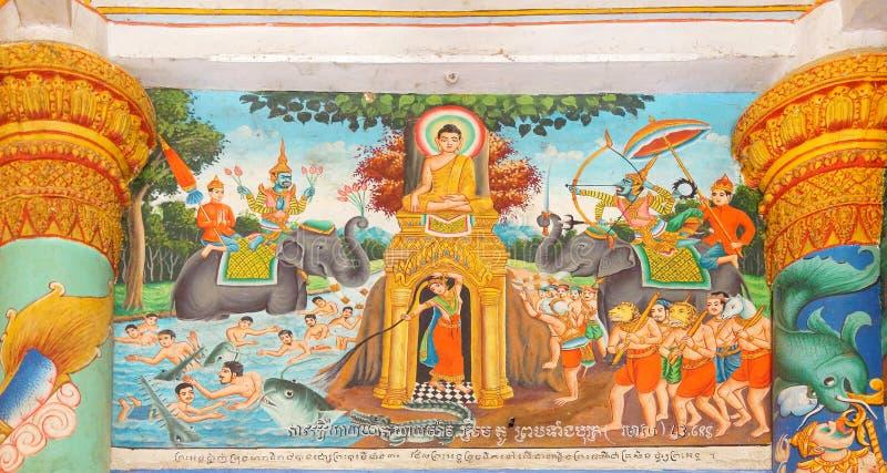 Cenas da vida da Buda fotos de stock