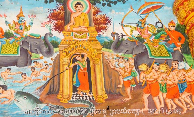 Cenas da vida da Buda imagem de stock royalty free