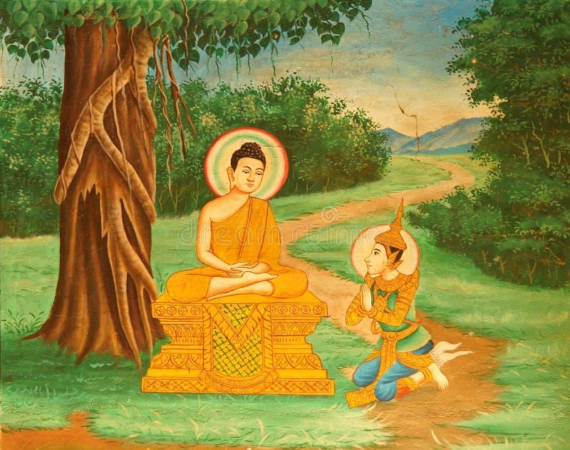 Cenas da vida da Buda fotografia de stock