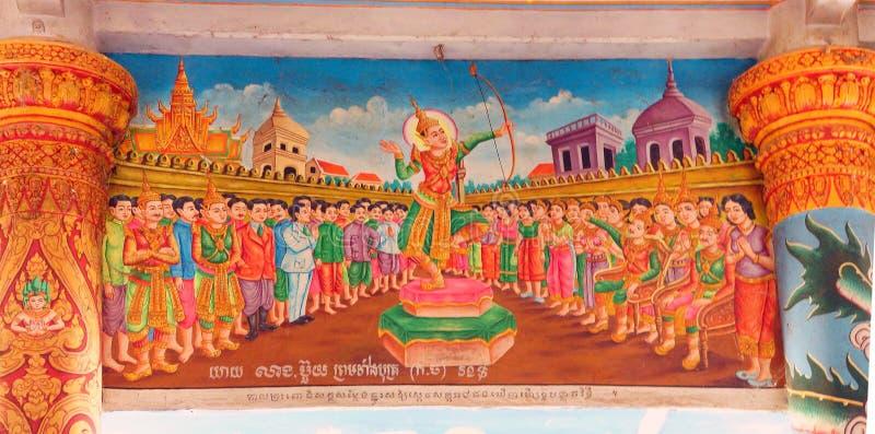 Cenas da vida da Buda foto de stock