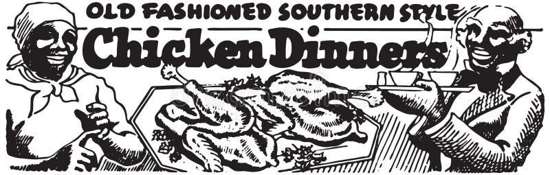 Cenas 2 del pollo stock de ilustración