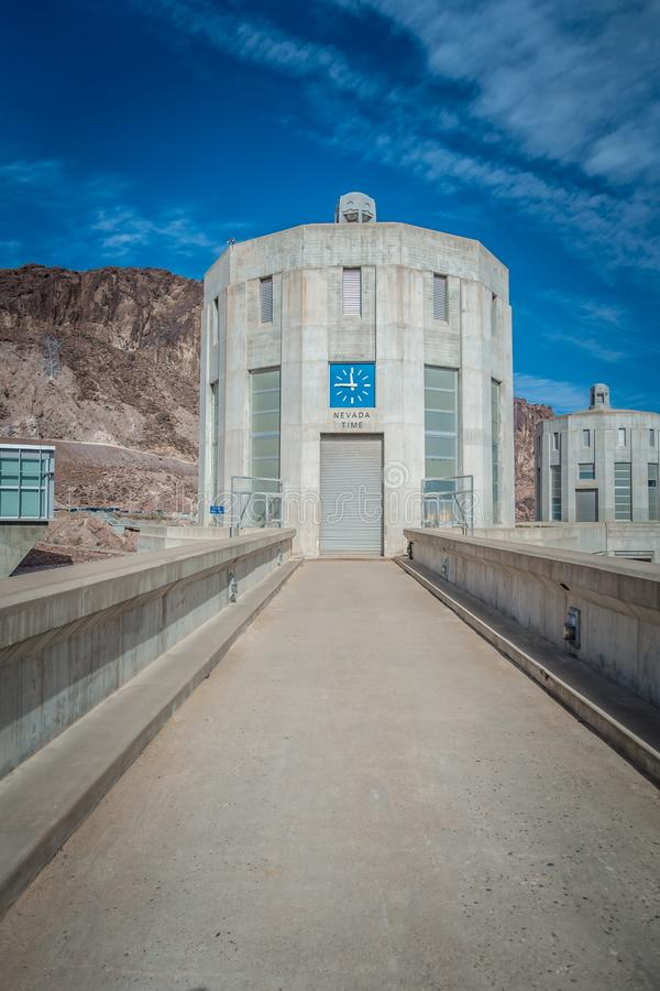 cenas em torno da barragem Hoover e do Mike O 'Callaghan - Pat Tillman Mem imagens de stock royalty free