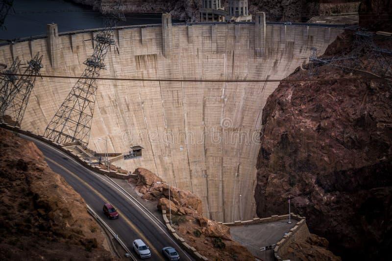 cenas em torno da barragem Hoover e do Mike O 'Callaghan - Pat Tillman Mem imagem de stock
