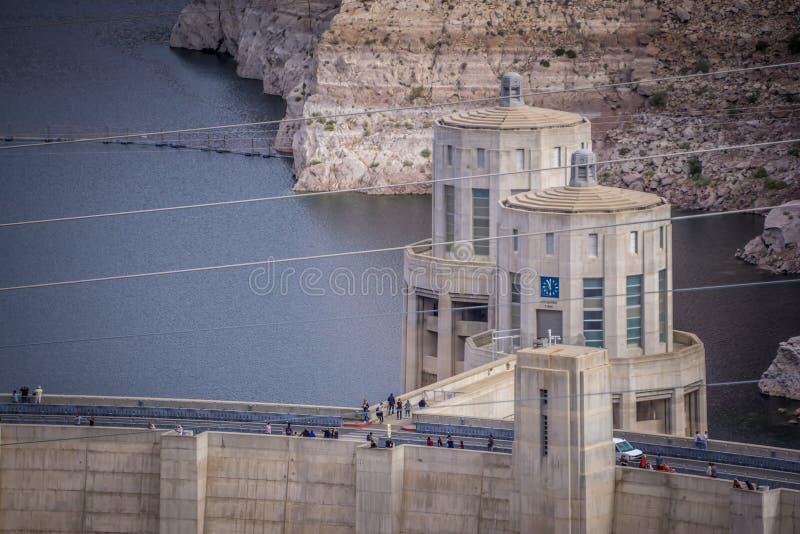 cenas em torno da barragem Hoover e do Mike O 'Callaghan - Pat Tillman Mem imagens de stock