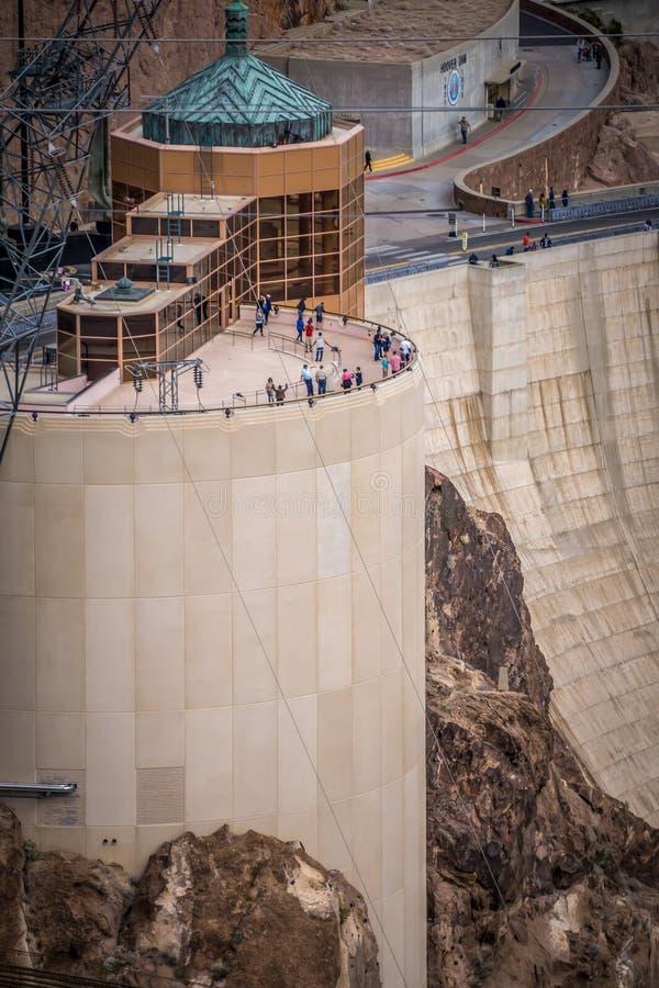 cenas em torno da barragem Hoover e o Mike O'Callaghan - o Pat Tillman Mem fotos de stock