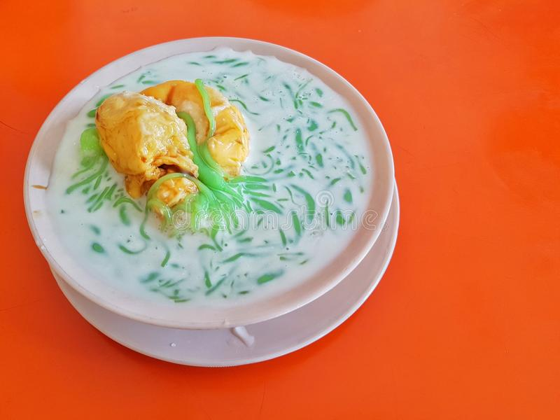 Cendol Durian. Cendol added with some durian for refreshment royalty free stock photos