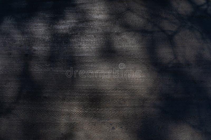 Cendrée avec des marques de pneu de bicyclette et des taches de lumière et d'ombre image libre de droits