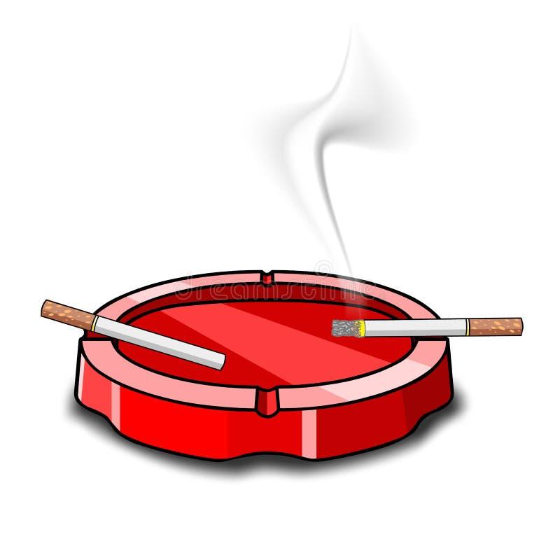 Cendrier avec des cigarettes illustration libre de droits