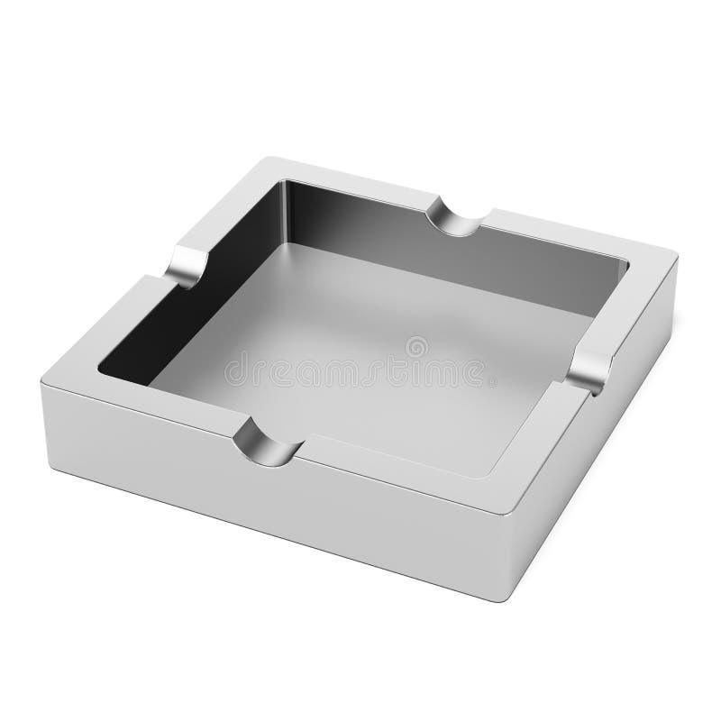Cendrier carré illustration de vecteur