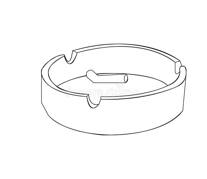 Cendrier d'isolement sur le fond blanc illustration stock