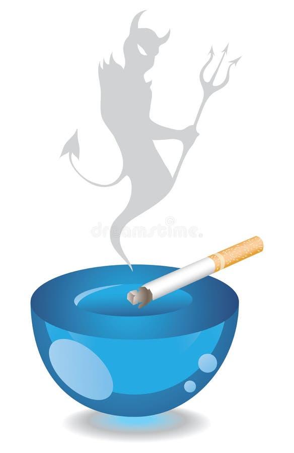 Cendrier et cigarette illustration de vecteur