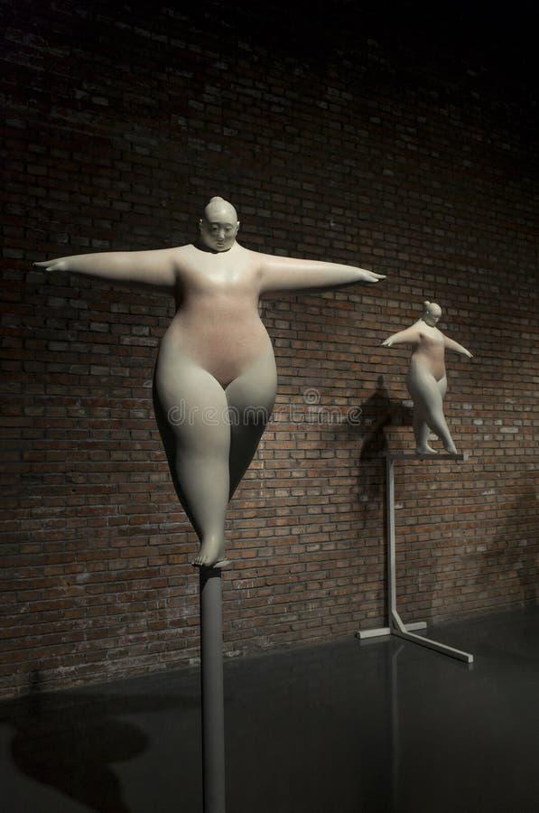 Ceng Zhushao скульптуры награды 2016 стипендии и shortlisted выставка работ стоковое изображение