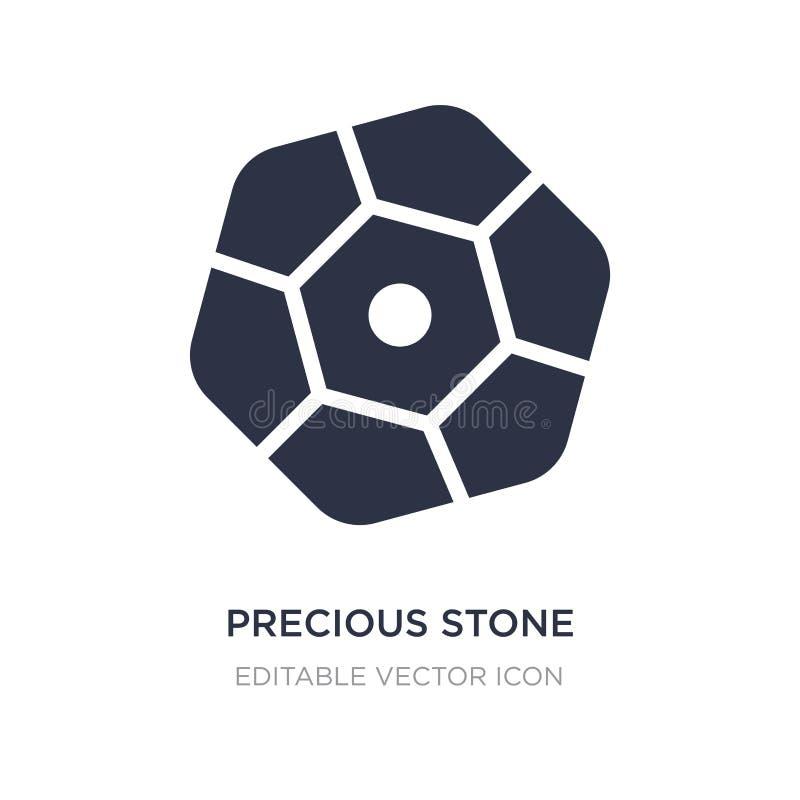 cennego kamienia ikona na białym tle Prosta element ilustracja od mody pojęcia royalty ilustracja