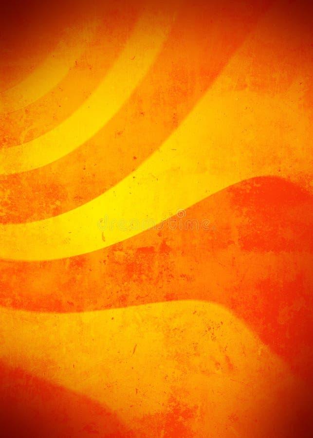 Cenni storici arancioni di Grunge