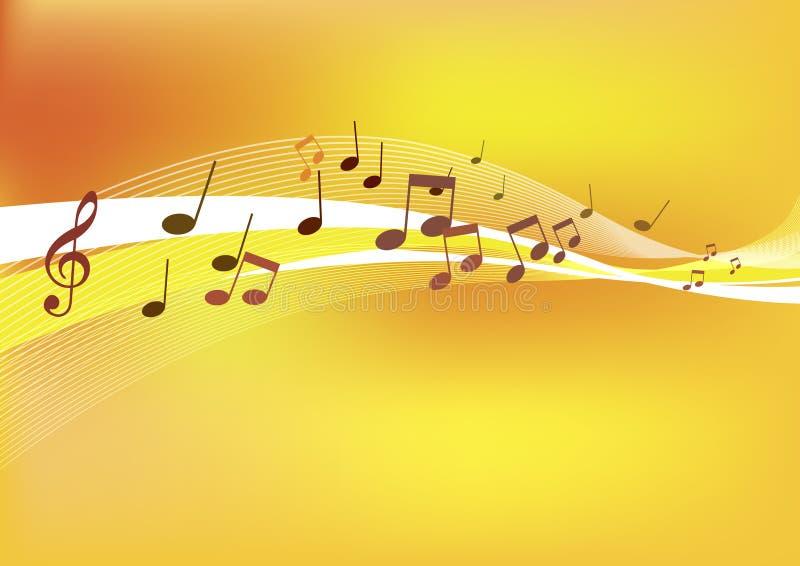 Cenni storici astratti di musica. illustrazione di stock