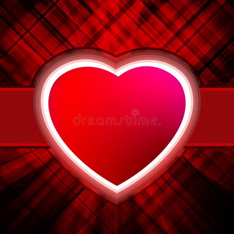 Cenni storici astratti di scoppio del cuore. ENV 8 illustrazione vettoriale