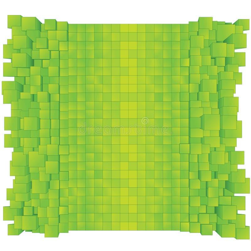 Cenni storici astratti verdi. Vettore pronto per progettazione illustrazione vettoriale
