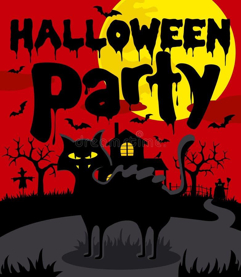 Cenni storici del partito di Halloween illustrazione vettoriale