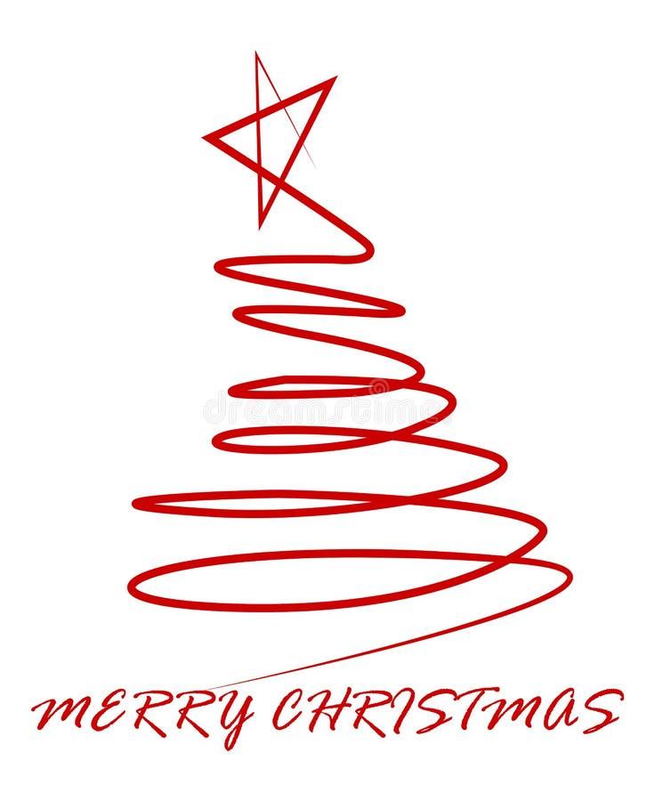 Cenni storici dell'albero di Natale illustrazione vettoriale
