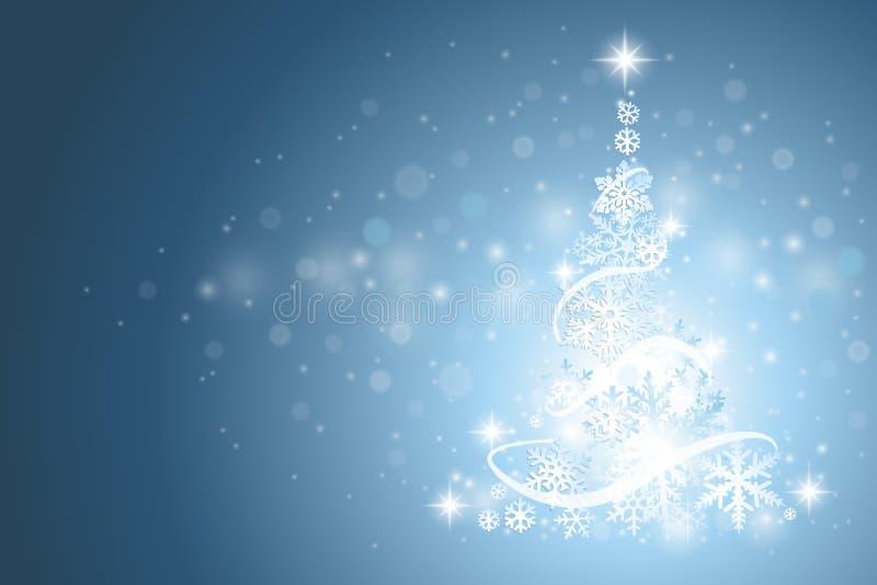 Cenni storici dell'albero di Natale illustrazione di stock