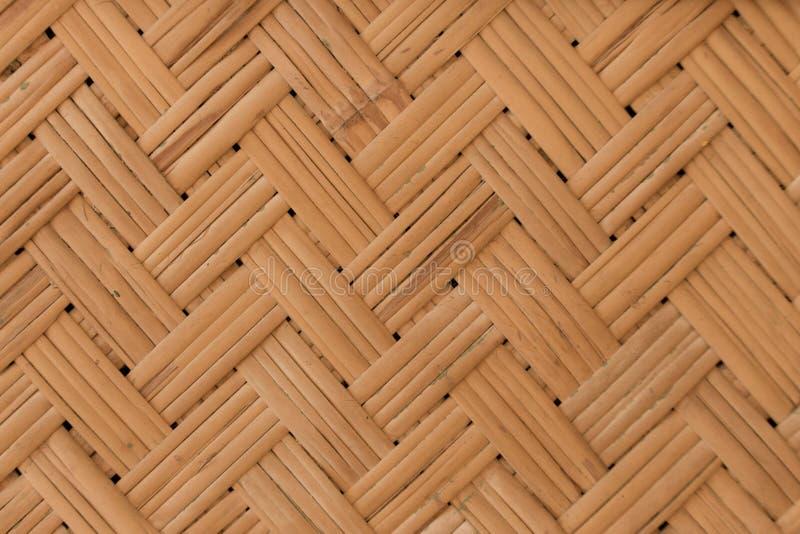 Cenni storici di vimini Fondo di legno di bambù marrone chiaro Concetto rustico asiatico del mestiere fotografia stock