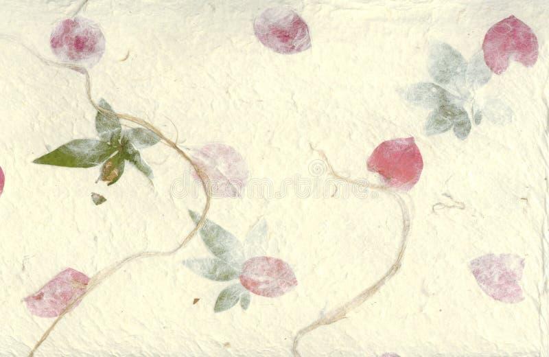 Cenni storici urgenti del documento del fiore illustrazione vettoriale