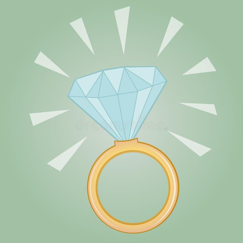 Cenny diamentowy pierścionek royalty ilustracja