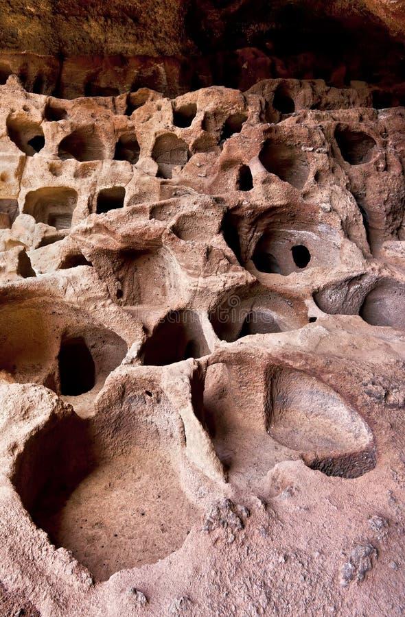 Cenobio de Valeron Caves en Canarias magníficas fotografía de archivo