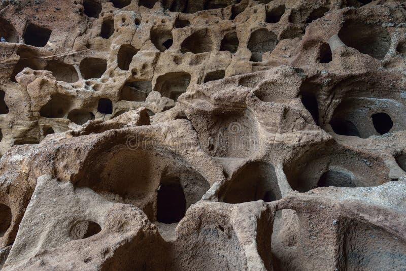 Cenobio de Valeron Caves en Canarias magníficas, España fotografía de archivo libre de regalías