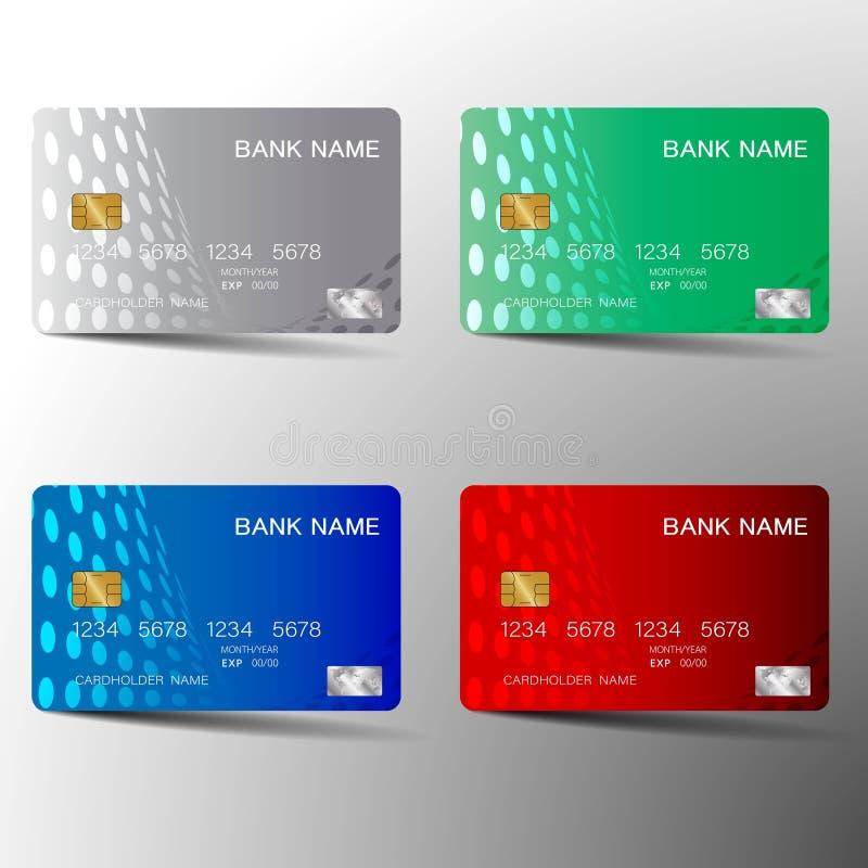 Cenografia colorida do cartão de crédito ilustração royalty free