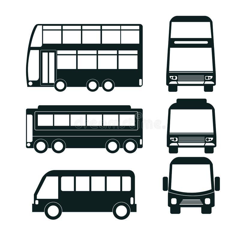 cenografia do ícone do ônibus ilustração stock