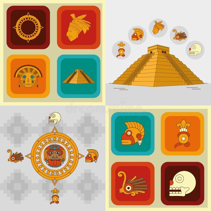 Cenografia do ícone do Maya ilustração royalty free