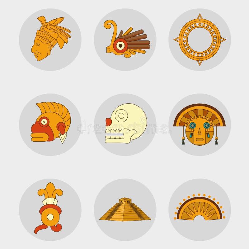 Cenografia do ícone do Maya ilustração stock