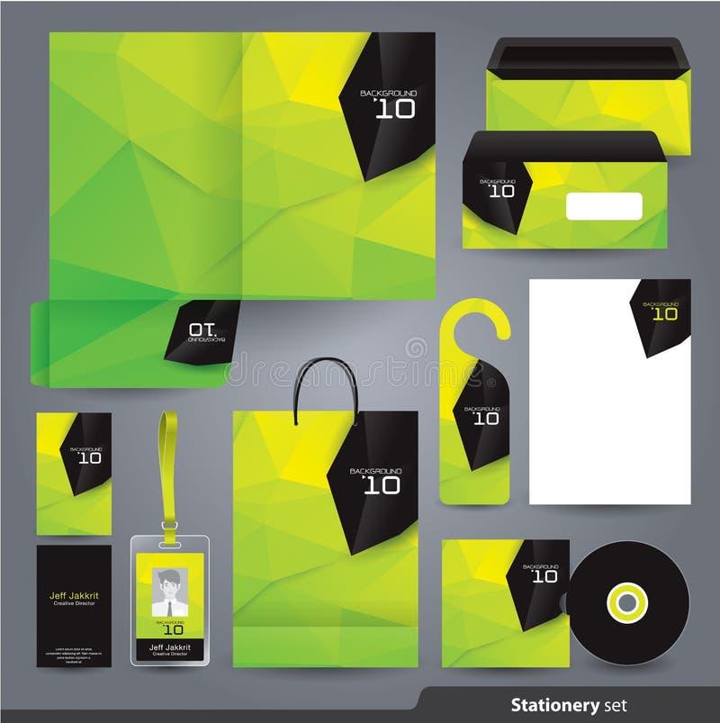 Cenografia dos artigos de papelaria/molde ajustado dos artigos de papelaria ilustração stock