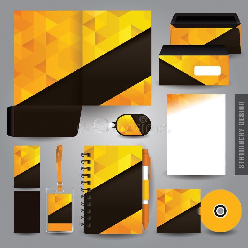 Cenografia dos artigos de papelaria/molde dos artigos de papelaria ilustração royalty free