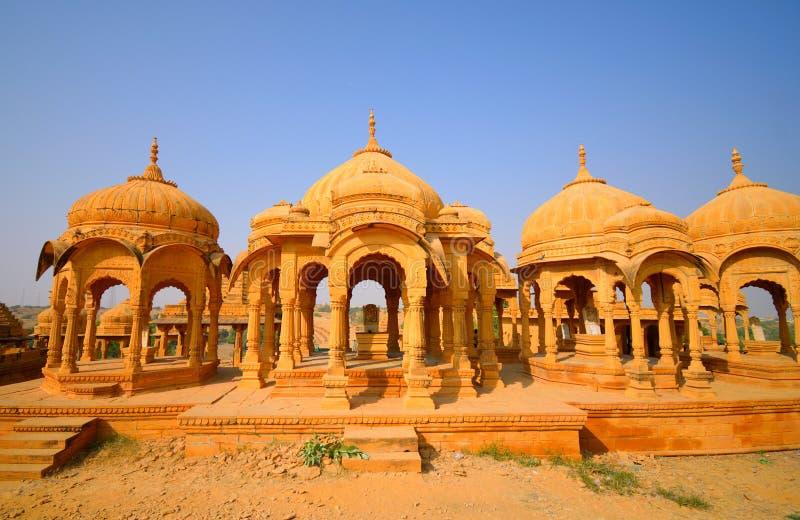 Cenotafier av Bada Bagh på Jaisalmer arkivfoto