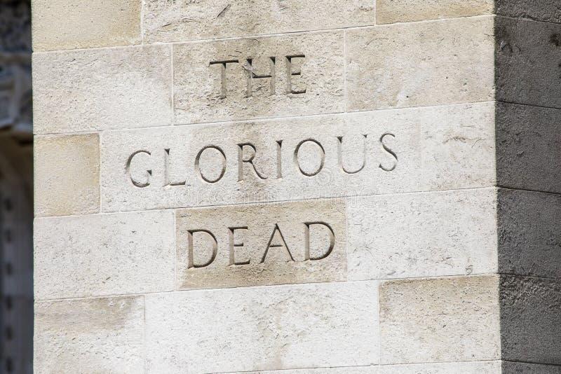 Cenotafiet i London arkivbild