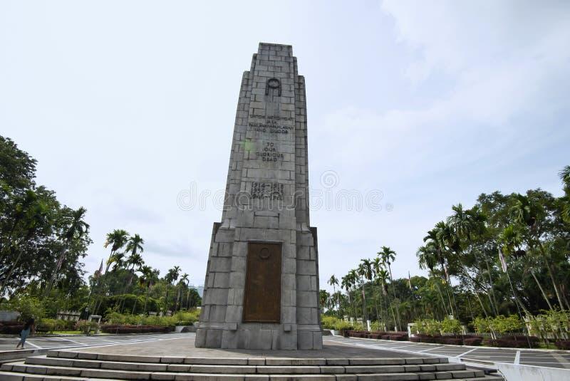 Cenotafio cerca del monumento nacional, Kuala Lumpur, Malasia imagenes de archivo