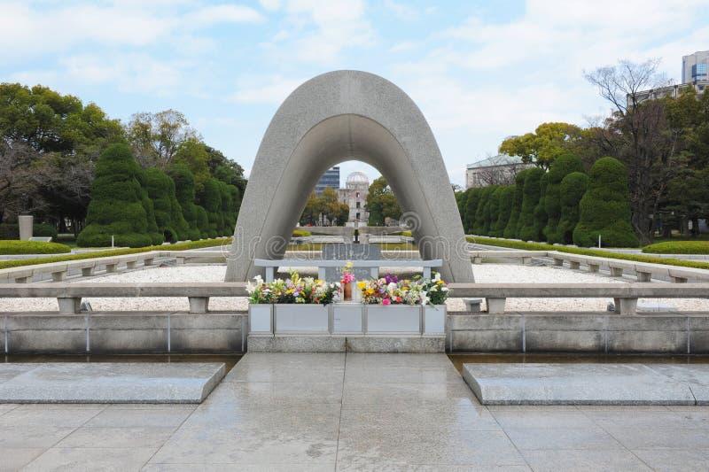 Cenotafio en Hiroshima foto de archivo