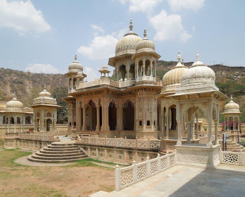 Cenotafios de Gaitore en Jaipur fotografía de archivo libre de regalías